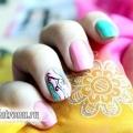 Кольоровий манікюр в пастельних тонах на коротких нігтях: урок з фото