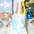 Декор для пляшки шампанського з фетру «снігуронька» своїми руками. майстер-клас з покроковими фото