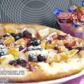 Фруктова піца з апельсинами і яблуками: пісний рецепт
