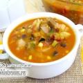 Італійський суп «мінестроне» з овочами і беконом: рецепт з фото
