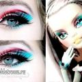 Яскравий макіяж ляльки монстер хай (monster high) на хеллоуїн: урок з покроковими фото