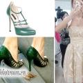 Які туфлі підібрати під кремове плаття?