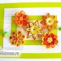 Картина з квітами в стилі квіллінг: майстер-клас