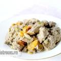Куряча печінка тушкована в молоці з овочами: рецепт з фото