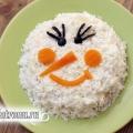 Новорічний салат «сніговик»: рецепт з фото