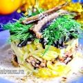 Новорічний салат зі шпротами без майонезу: рецепт з фото