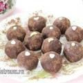 Тістечко «картопля» з начинкою з кураги, рецепт з фото