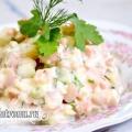 Пісний салат олів'є: рецепт з фото