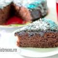 Пісний шоколадний пиріг (без яєць): рецепт з фото