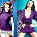 З чим носити фіолетову сукню: фотоогляд