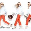 З чим носити коралові брюки, бриджі та шорти? модні ідеї