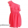З чим носити коротке коралове плаття?
