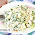 Салат з пекінської капусти з куркою і яблуком. рецепт з фото