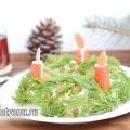 Салат «новорічний вінок», рецепт з покроковими фото