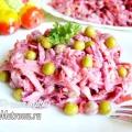 Салат зі смаженою картоплею, морквою і буряком: рецепт з фото