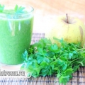 Смузі з петрушкою і яблуком - покроковий рецепт для підвищення імунітету у дітей і дорослих