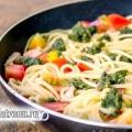 Спагетті з соусом песто: рецепт з фото