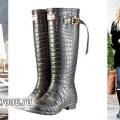 Стильні гумові чоботи: наймодніші варіанти