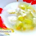Суп з галушками і куркою, рецепт з фото