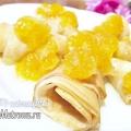 Тонкі млинці на молоці з апельсиновим конфітюром: рецепт з фото
