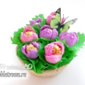 Букет квітів з цукерок: саморобка до 8 березня з дітьми