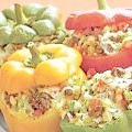 Фарширований перець. літній варіант з рисом