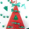 Магніт «ялинка» своїми руками з пряжі: новорічна саморобка з дітьми
