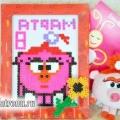 Нюша-смішарик: дитяча саморобка з мозаїки до 8 березня