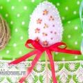 Пасхальне яйце з фетру на шпазі: дитяча саморобка на паску