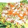 Редька з кунжутом і салат з локшини з соєвим соусом