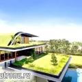 Гарний будинок, з садами на дахах